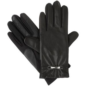 ISOTONER SIGNATURE STRETCH LEATHER BELTED GLOVES